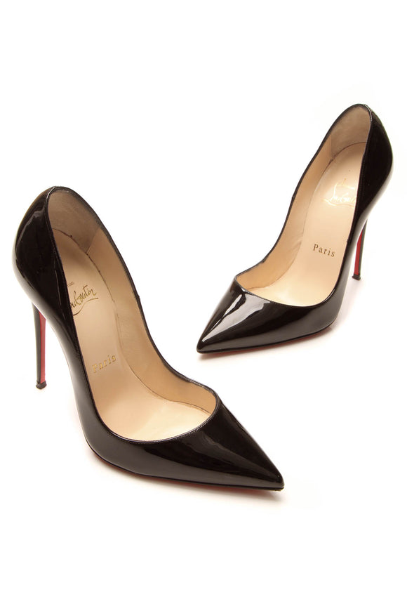 Christian Louboutin So Kate 120 Pumps - Black Patent Size 36