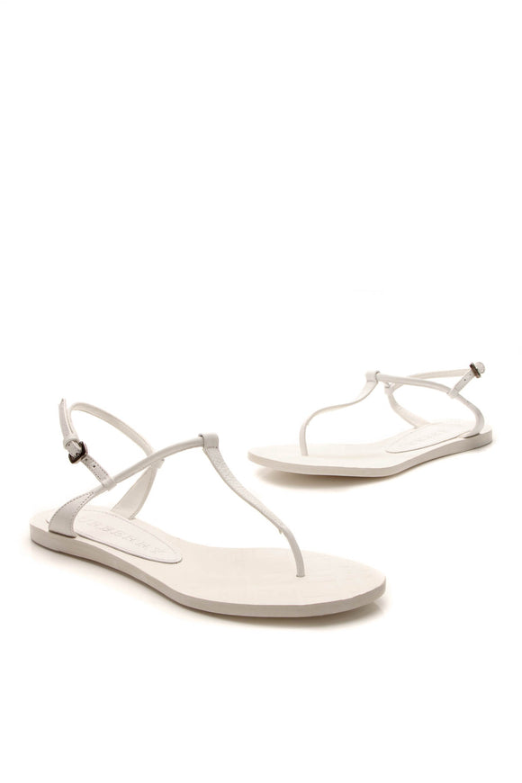 Burberry Aldridge Thong Sandals - White Size 35