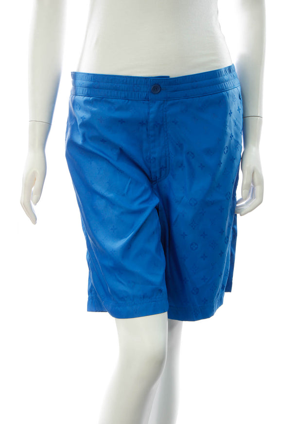 Louis Vuitton Men's Swim Shorts - Blue Size Small