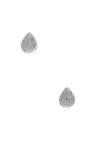 Kat Florence Diamond Teardrop Earrings - White GoldKat Florence Diamond Teardrop Earrings - White Gold