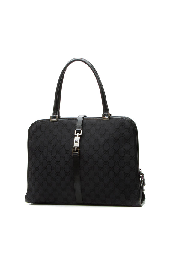 Gucci Top Handle Briefcase - Navy Signature Canvas