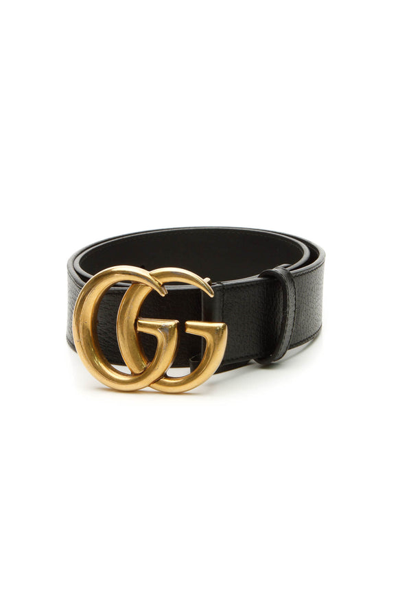 Gucci GG Marmont Belt - Black Size 30