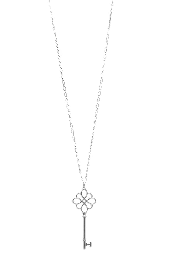 Tiffany & Co. Knot Key Pendant Necklace - Silver