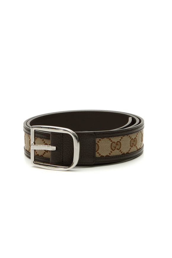 Gucci Buckle Belt - Signature Canvas Size 38