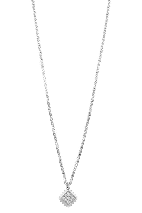 Louis Vuitton Diamond Necklace - White Gold