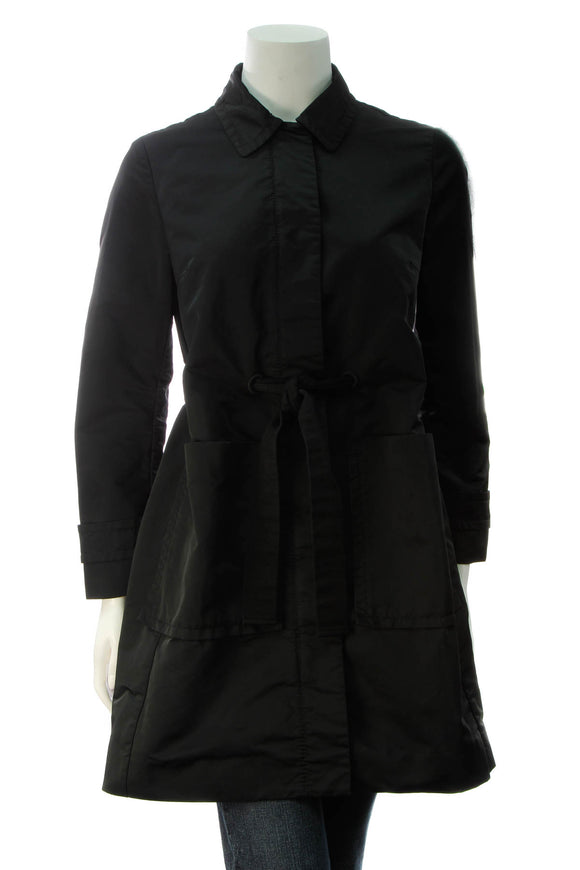 Moncler Collared Coat - Black Size 0