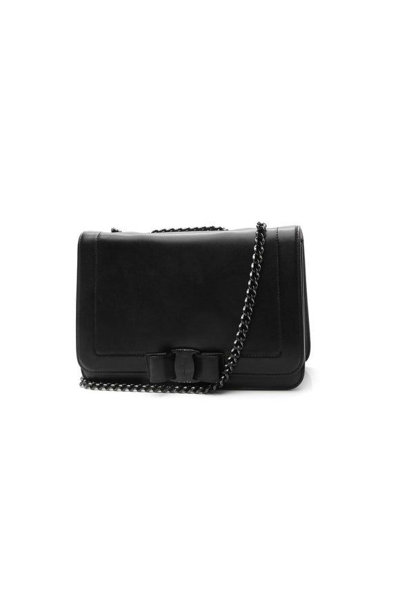 Salvatore Ferragamo Vara Bow Small Chain Bag - Black