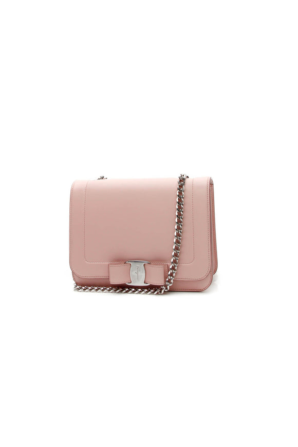 Salvatore Ferragamo Vara Bow Chain Bag - Light Pink