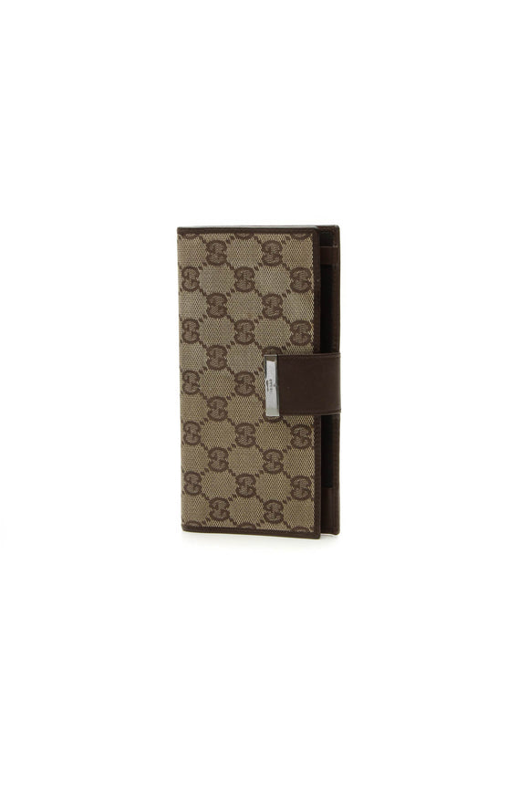 Gucci Checkbook Cover Wallet - Signature Canvas