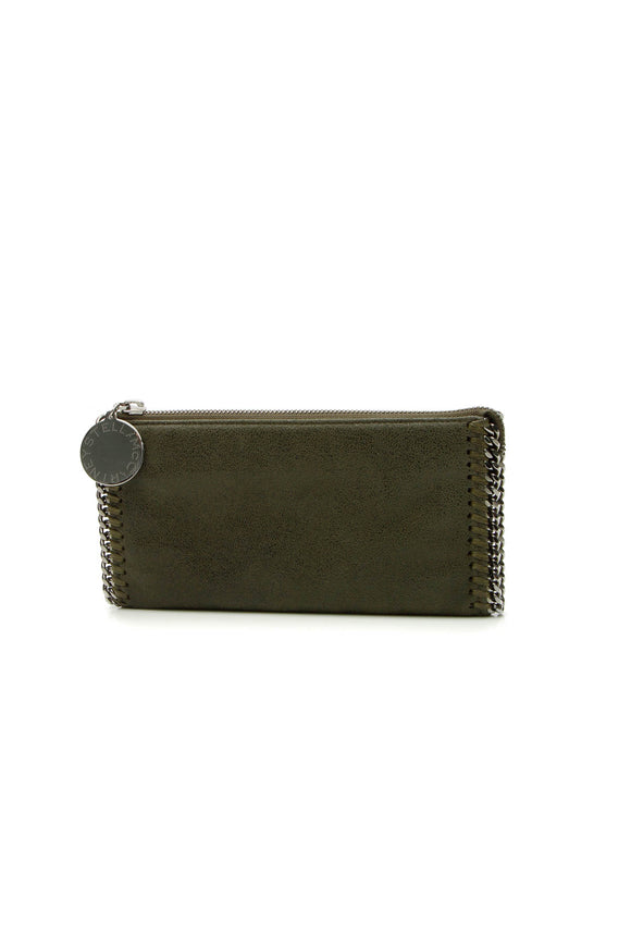 Stella McCartney Falabella Chain Zip Wallet - Olive