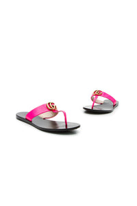 Gucci Marmont Thong Sandals - Hot Pink Size 36.5