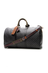 Louis Vuitton Patchwork Keepall Bandouliere 50 Travel Bag - Monogram Eclipse