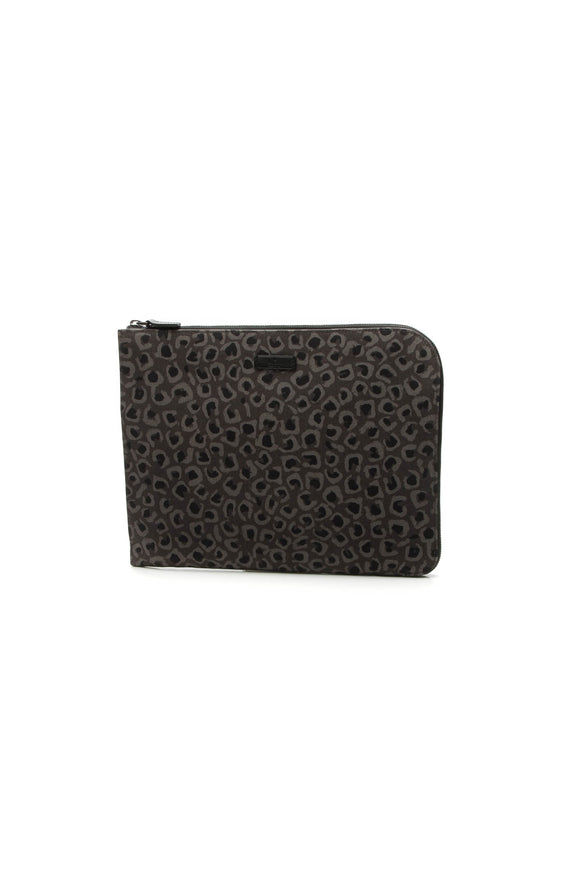 Gucci Animal Print Document Case - Gray