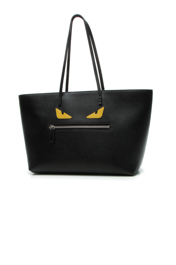 Fendi Monster Roll Tote Bag - Black