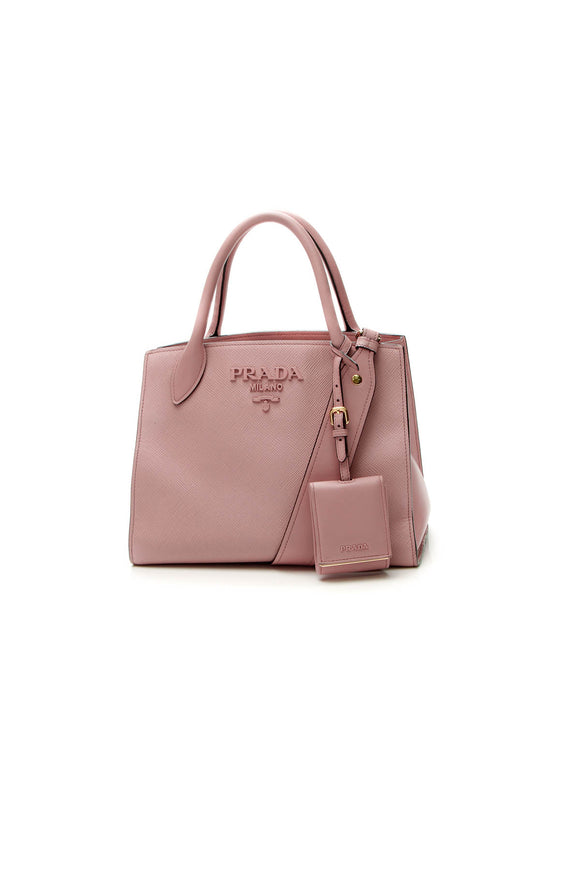 Prada Monochrome Top Handle Bag - Pink