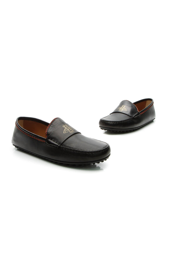 Gucci Kanye Bee Keeper Men's Loafers - Black US Size 11.5