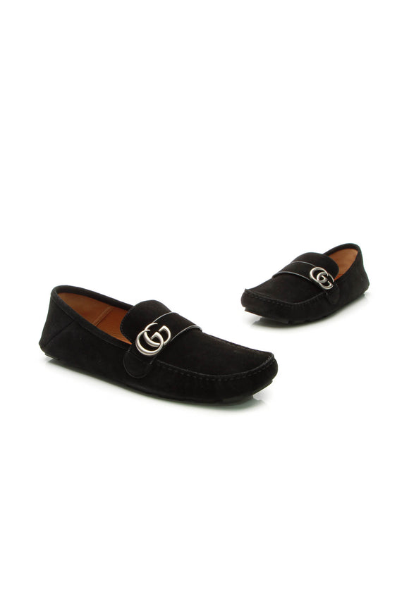 Gucci Noel Marmont Men's Loafers - Black US Size 11