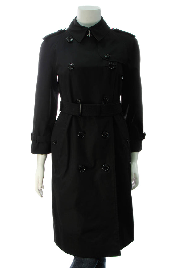 Burberry The Waterloo Trench Coat - Black Size 4