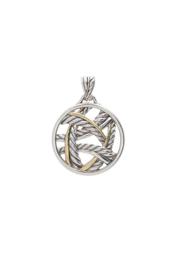 David Yurman Papyrus Pendant - Silver/Gold