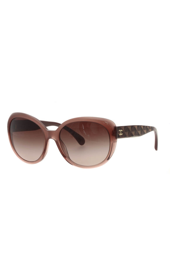 Chanel Oval Frame Sunglasses - 5184 Brown