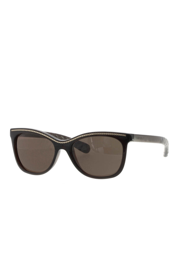 Chanel Cat-Eye Chain Sunglasses - 6041 Brown