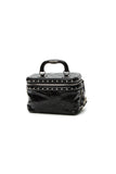 Chanel Studded Train Case Bag - Black