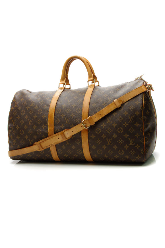 Louis Vuitton Vintage Keepall 55 Bandouliere Travel Bag - Monogram