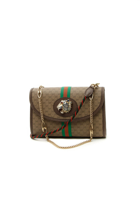 Gucci Web Small Rajah Shoulder Bag - Supreme Canvas