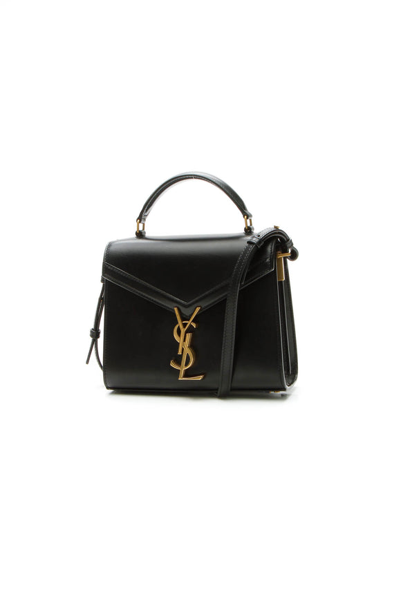 Saint Laurent Cassandra Mini Top Handle Bag - Black