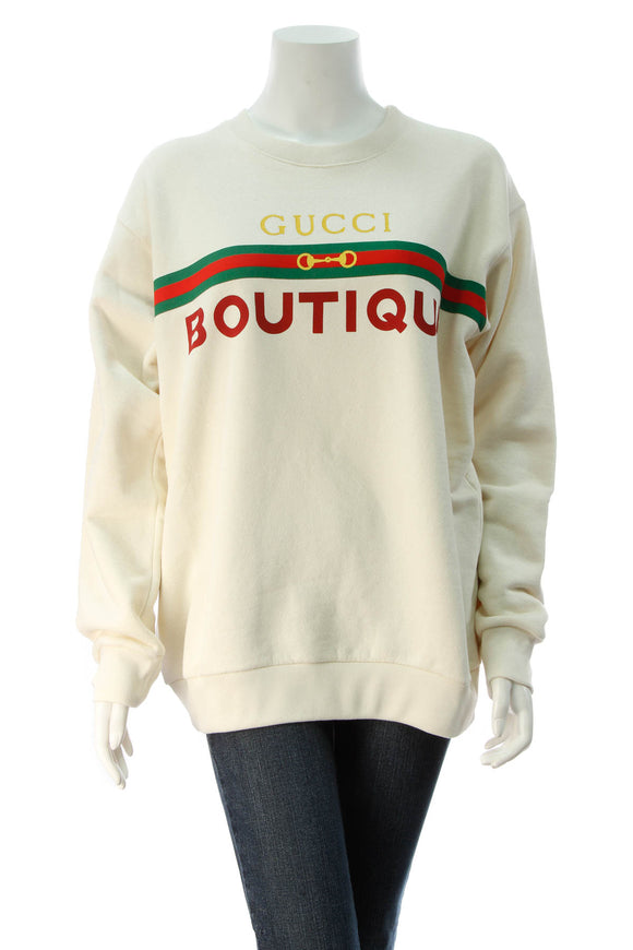 Gucci Boutique Men's Sweatshirt - Cream Size Small