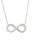 Tiffany & Co. Diamond Infinity Pendant Necklace - Platinum