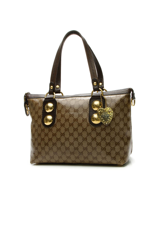 Gucci Babouska Small Tote Bag - Crystal Canvas