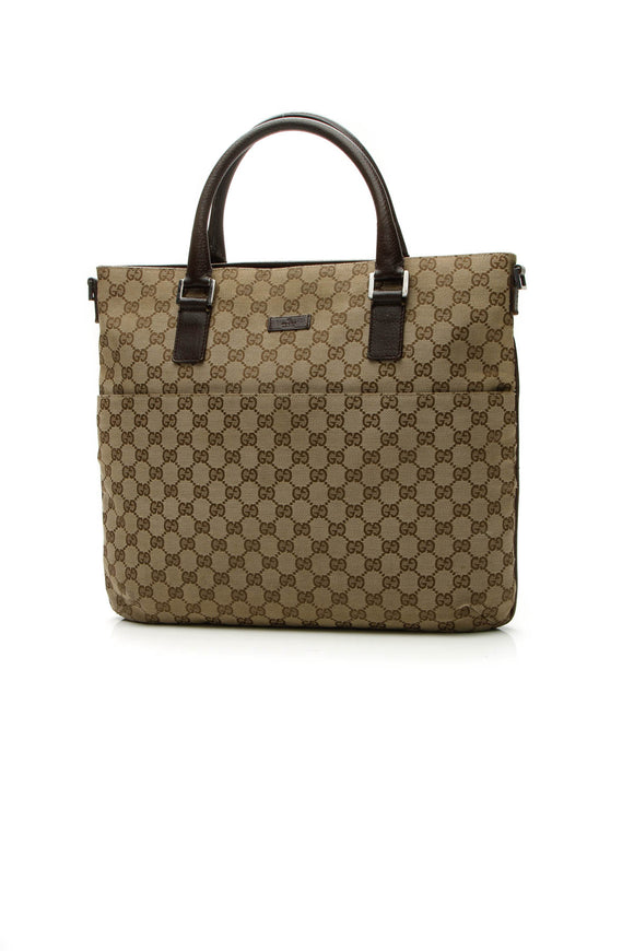 Gucci Top Handle Large Tote Bag - Signature Canvas