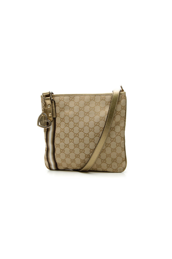 Gucci Web Jolicoeur Charms Messenger Bag - Signature Canvas