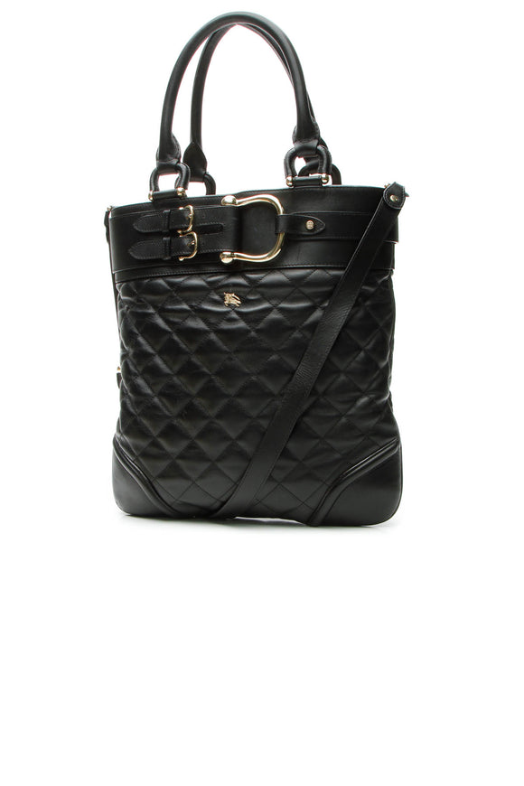 Burberry Hillgate Large Tote Bag - Black