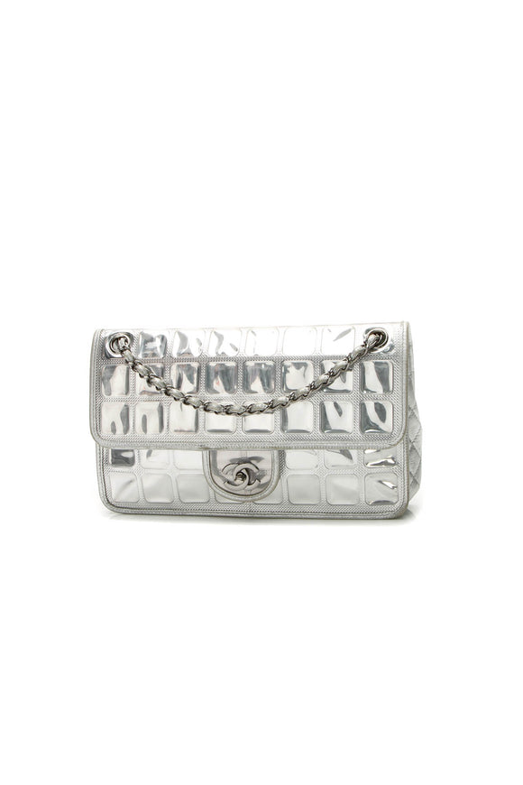 Chanel Ice Cube Flap Bag - Silver