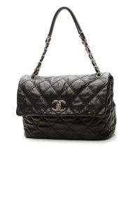 Chanel Quilted Soft Flap Bag - Black