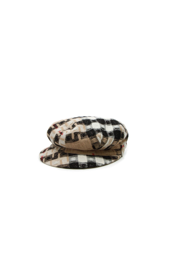 Burberry Newsboy Hat - Check Size Large