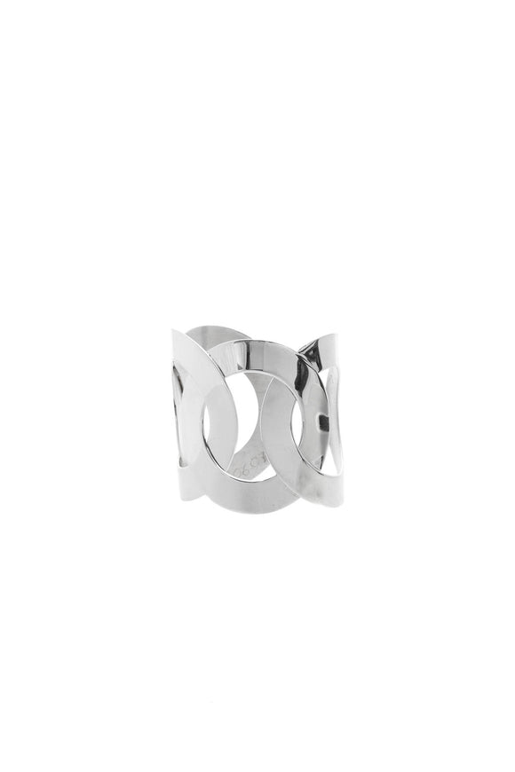 Pianegonda Interlocking Cuff Bracelet - Silver