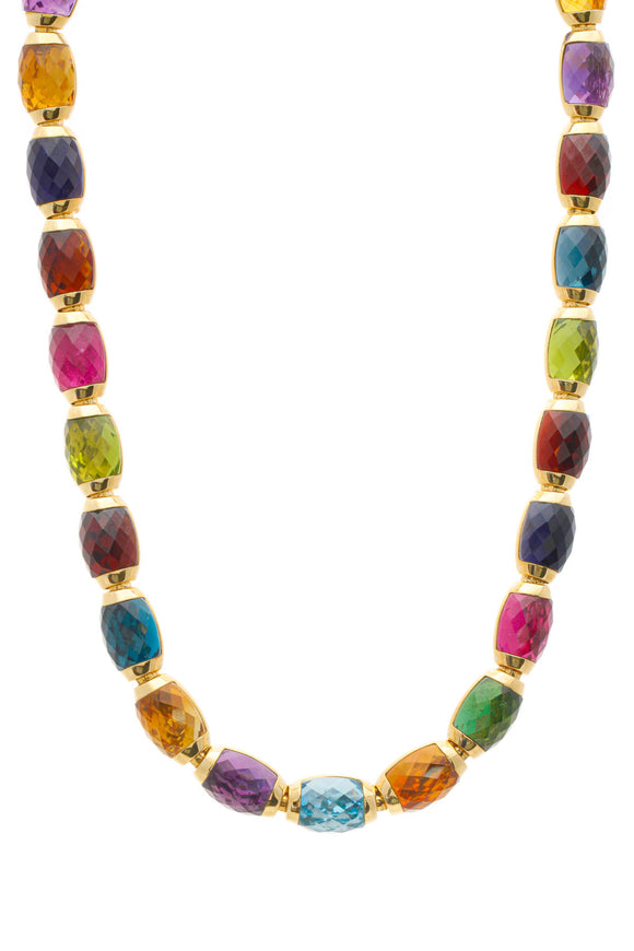 Fine Jewelry Multi-Stone Collar Necklace - Yellow Gold