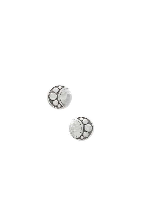 John Hardy Dot Moon Phase Stud Earrings - Silver