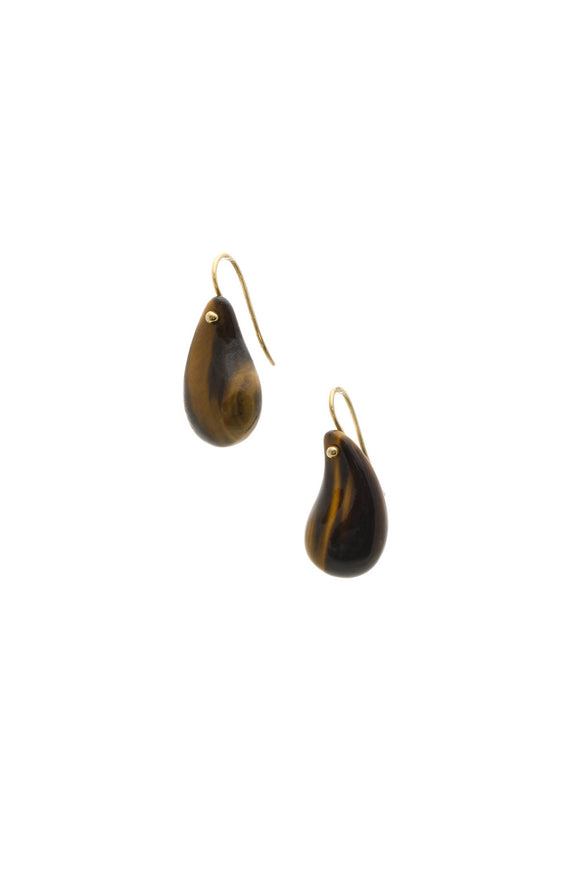 Fine Jewelry Tiger's Eye Drop Earrings - Gold