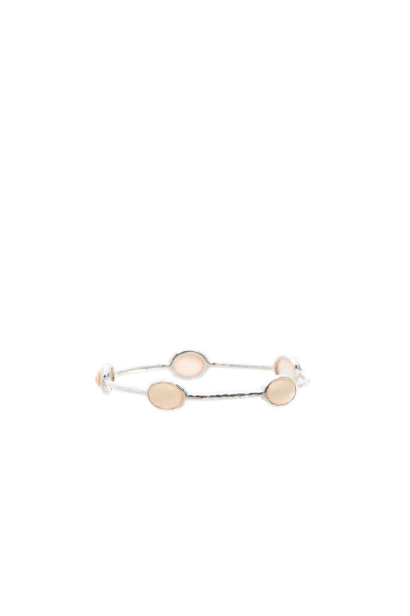 Ippolita 5-Stone Rock Candy Bangle Bracelet - Silver/Coral