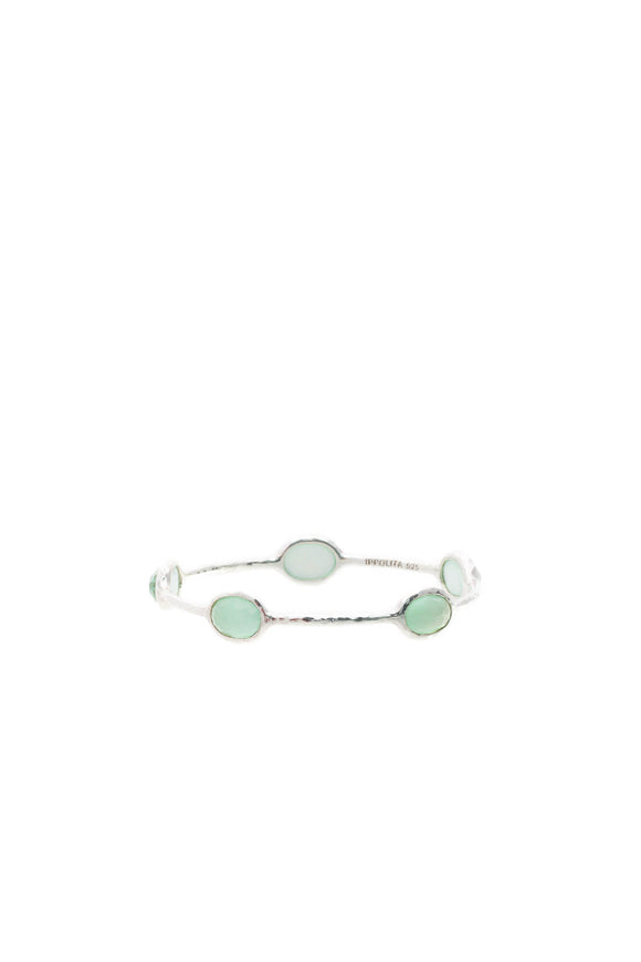 Ippolita 5-Stone Rock Candy Bangle Bracelet - Silver/Aqua