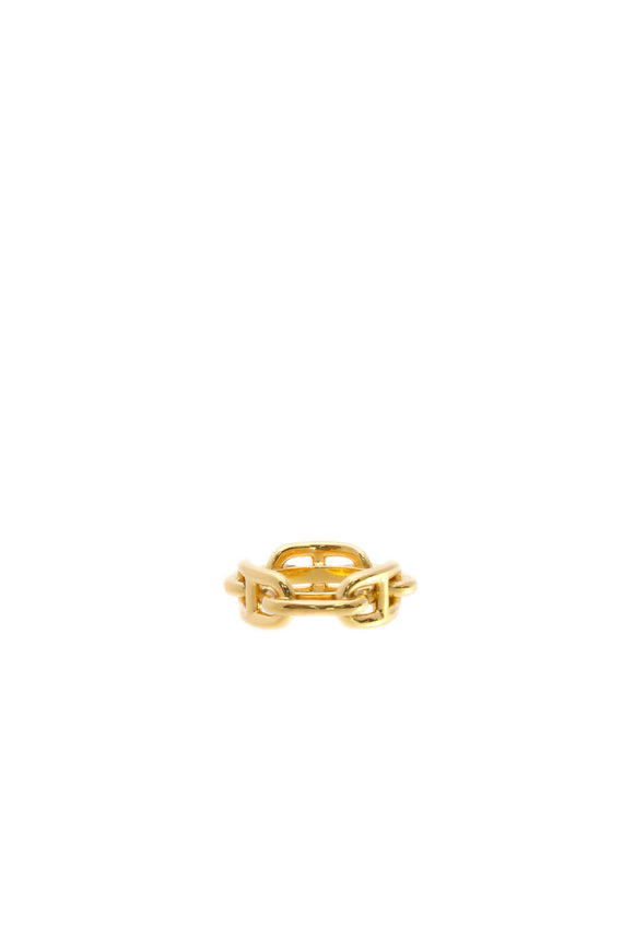 Hermes Chain D'Ancre Scarf Ring - Gold