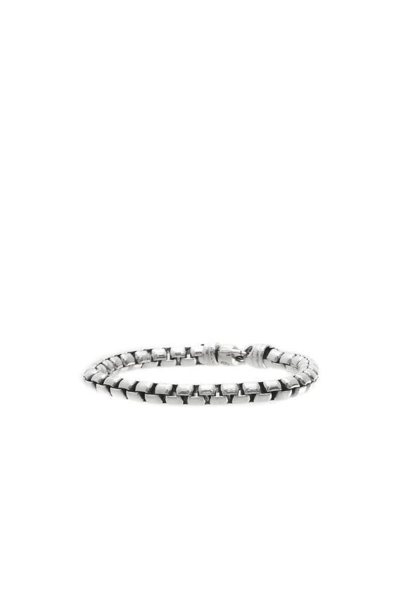 David Yurman 7mm Extra Large Box Chain Bracelet - Silver