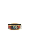 Hermes Quadrige Enamel Bangle Bracelet - Gold
