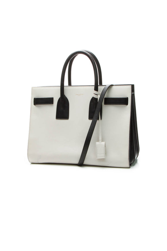 Saint Laurent Classic Small Sac De Jour Bag - Black/Ivory