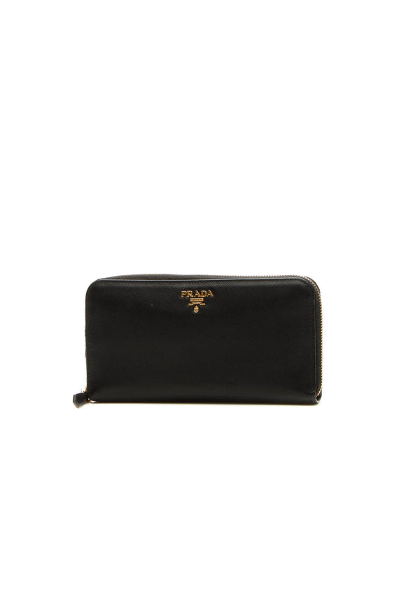 Prada Zip-Around Wallet - Black