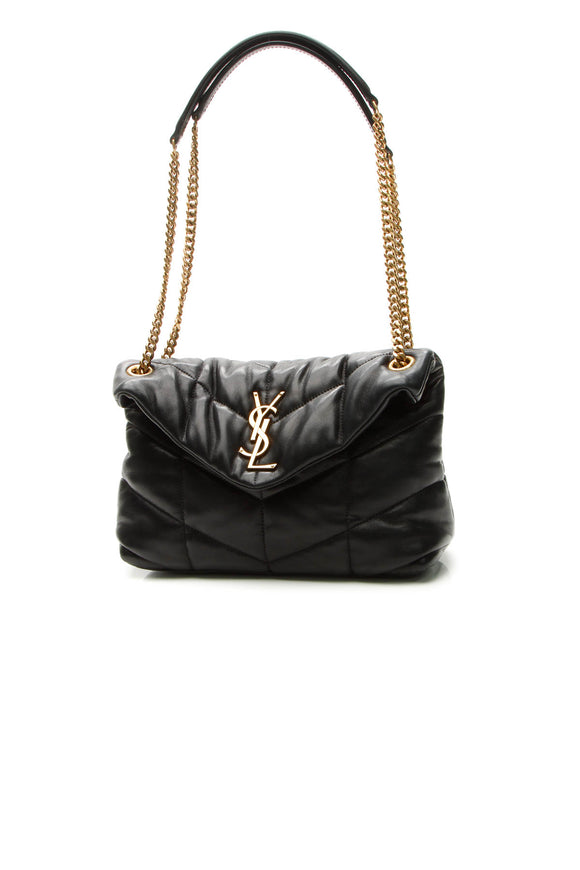 Saint Laurent Puffer Small LouLou Bag - Black